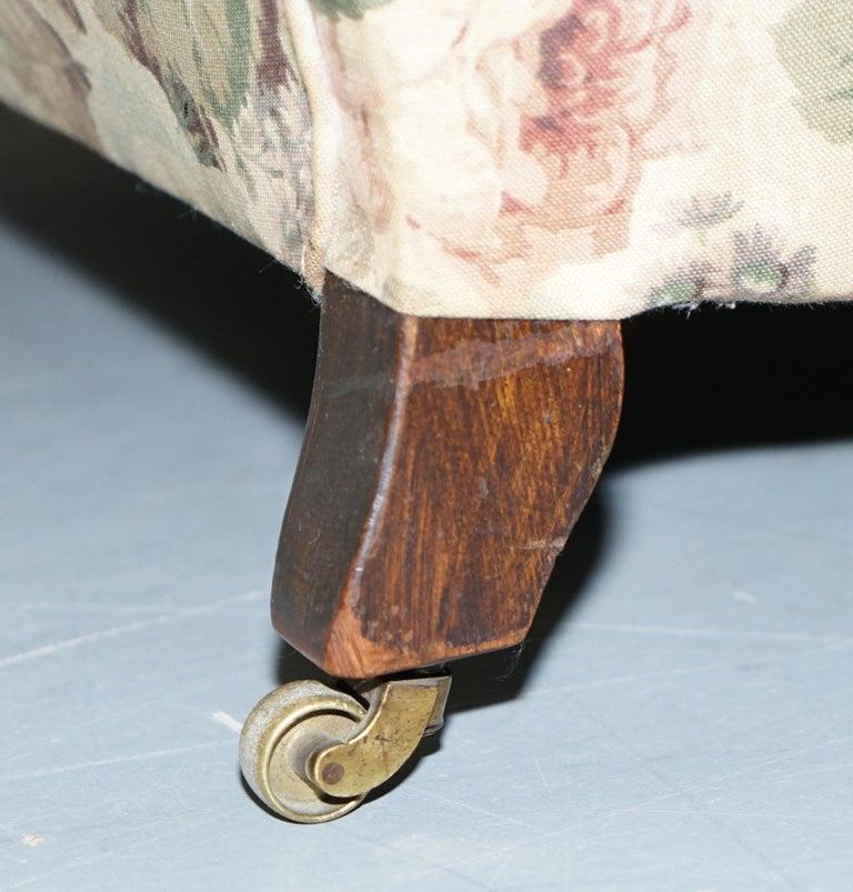 Howard & Son's Fully Stamped Original Victorian Walnut Armchair Original Castors For Sale 7