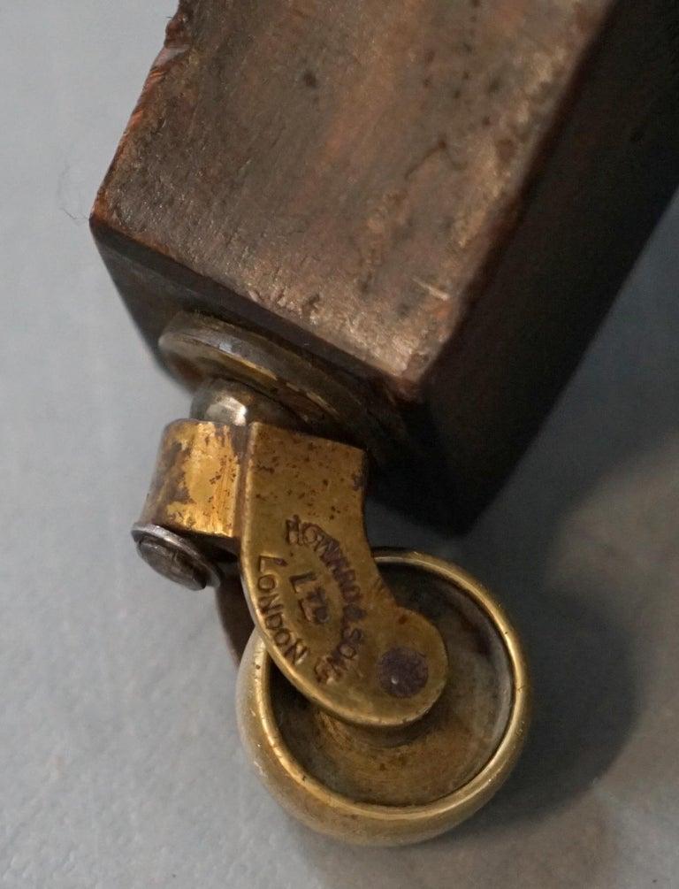 Howard & Son's Fully Stamped Original Victorian Walnut Armchair Original Castors For Sale 13