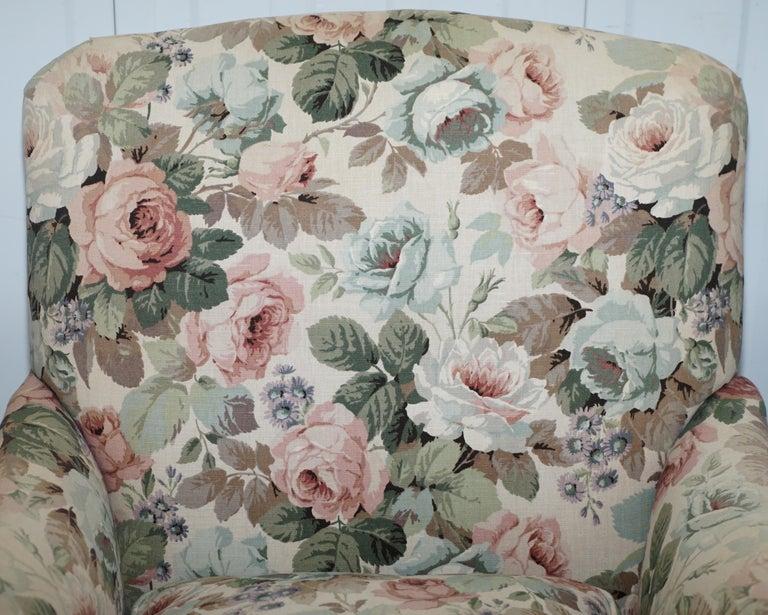 19th Century Howard & Son's Fully Stamped Original Victorian Walnut Armchair Original Castors For Sale