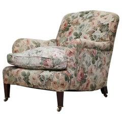 Howard & Son's Fully Stamped Original Victorian Walnut Armchair Original Castors