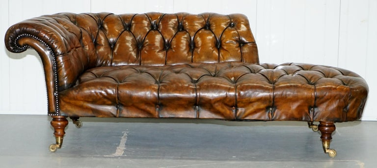 We are delighted to offer for sale this very rare totally original Victorian Howard & Son's Chesterfield Chesterbed chaise lounge