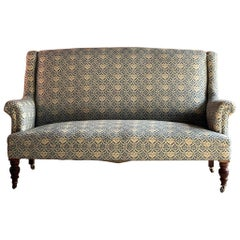 Howard & Sons Two-Seat Sofa Antique, 19th Century, circa 1890