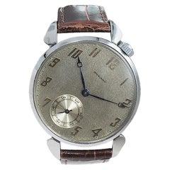 Howard Steel Oversized American Wrist Watch Manual Winding