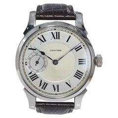 Howard Steel Oversized Wrist Watch Manual Winding from 1921