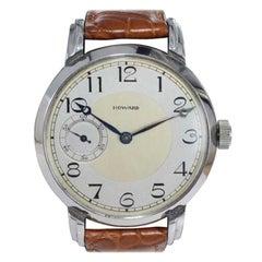 Howard Steel Oversized Wristwatch Manual Winding from 1921