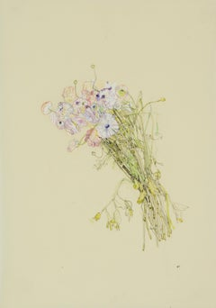 Flowers (A Bunch), Mixed media on Pergamenata parchment
