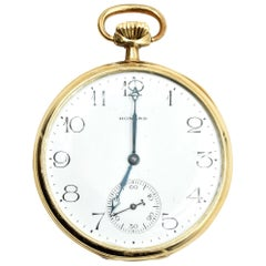 Howard Yellow Gold mechanical Pocket Watch