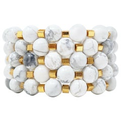 Howlite Gemstone Bracelet Stack 'Set of Five Bracelets'