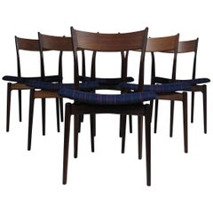 H.P. Hansen for Randers Danish Rosewood Dining Chairs