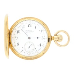 H.R. Ekegren Pocket Watch, 18 Karat Yellow Gold Hunter 2 Year Warranty