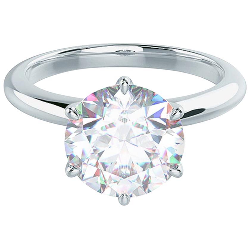 Internally Flawless GIA Certified 2 Carat Round Brilliant Cut Diamond Ring