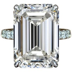 GIA Certified 2.50 Carat E Color VS1 Clarity Emerald Cut Diamond Ring