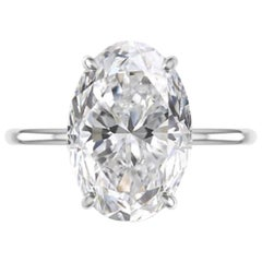GIA Certified 3 Carat Excellent Cut Platinum Ring