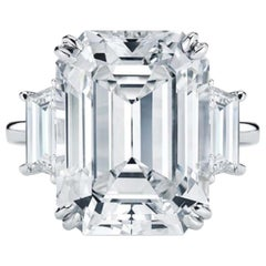 GIA Certified 4.50 Carat Emerald Cut Diamond D Color VS2 Clarity 3X