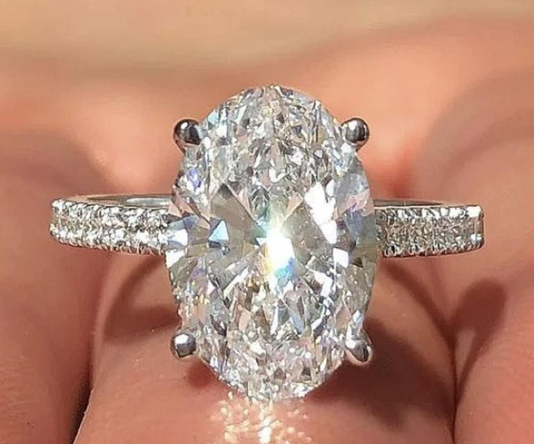 An amazing diamond certified by GIA 3 carat diamond D Color VS2 Clarity Excellent Cut