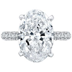 Gia Certified 3 Carat Oval Solitaire Ring E Color VVS1