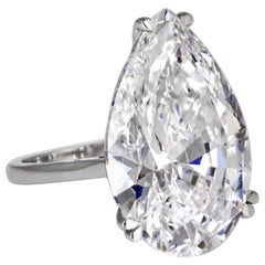 GIA Certified 3 Carat Pear Cut Diamond Ring