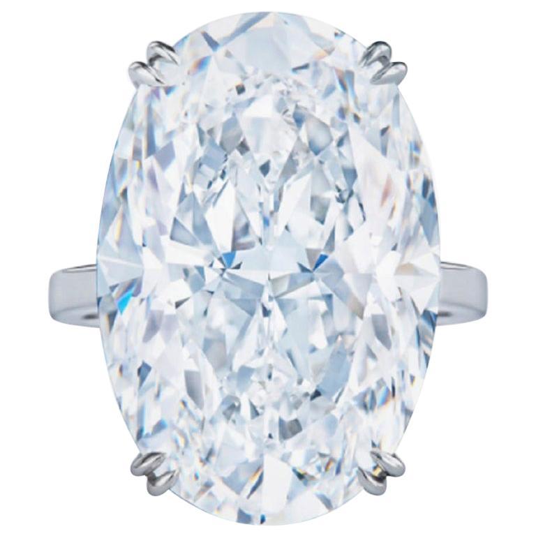 GIA Certified 6.01 Carat Oval Diamond Ring