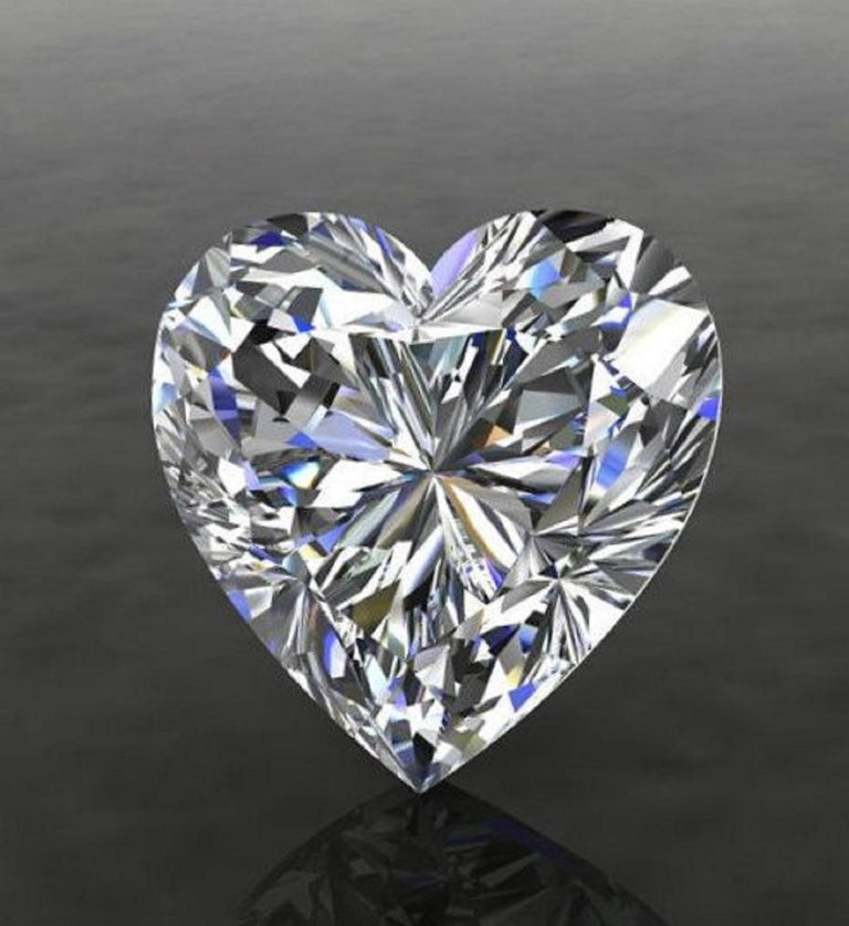 Heart Cut GIA EXCEPTIONAL 2.41 Carat Heart Shape Diamond D Color VS2 Necklace Platinum For Sale