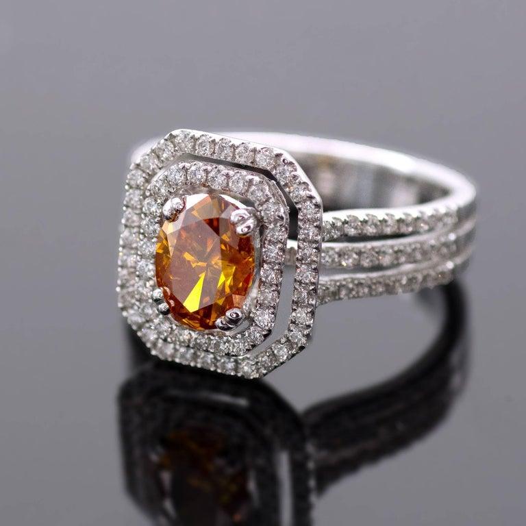HRD Certified Fancy Intense Yellowish Orange Diamond