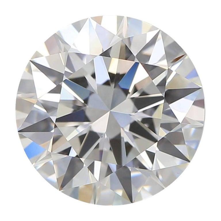 HRD Certified F.VS1 1.02 Carat Brillant Cut Diamond For Sale