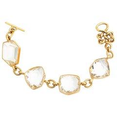 H.Stern DVF 221.10 Carat Rock Crystal 18 Karat Gold Bracelet