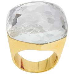 H.Stern for Diane von Furstenberg 39 Carat Rock Crystal Cocktail Gold Ring
