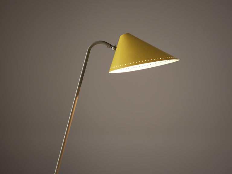 Mid-Century Modern H.Th.A.Busquet for Hala Zeist Floor Lamp in Metal For Sale