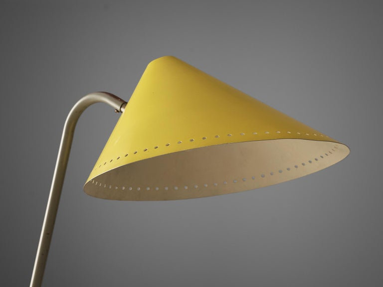 Dutch H.Th.A.Busquet for Hala Zeist Floor Lamp in Metal For Sale