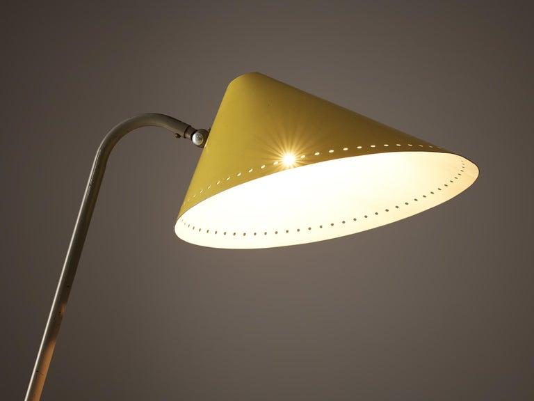 H.Th.A.Busquet for Hala Zeist Floor Lamp in Metal In Good Condition For Sale In Waalwijk, NL
