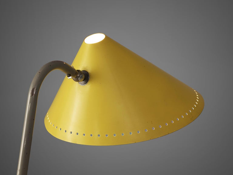 Mid-20th Century H.Th.A.Busquet for Hala Zeist Floor Lamp in Metal For Sale