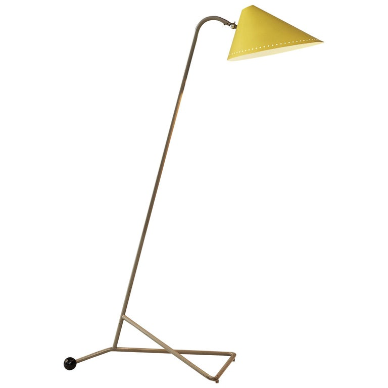 H.Th.A.Busquet for Hala Zeist Floor Lamp in Metal For Sale