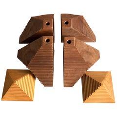 Huacas, 6-Piece Standard Set, Wood Walnut and Lenga Beech Oak, First Edition