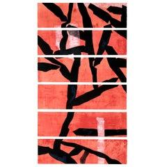 """Huai-Qing Wang """"Red"""" Etching, 2008"""