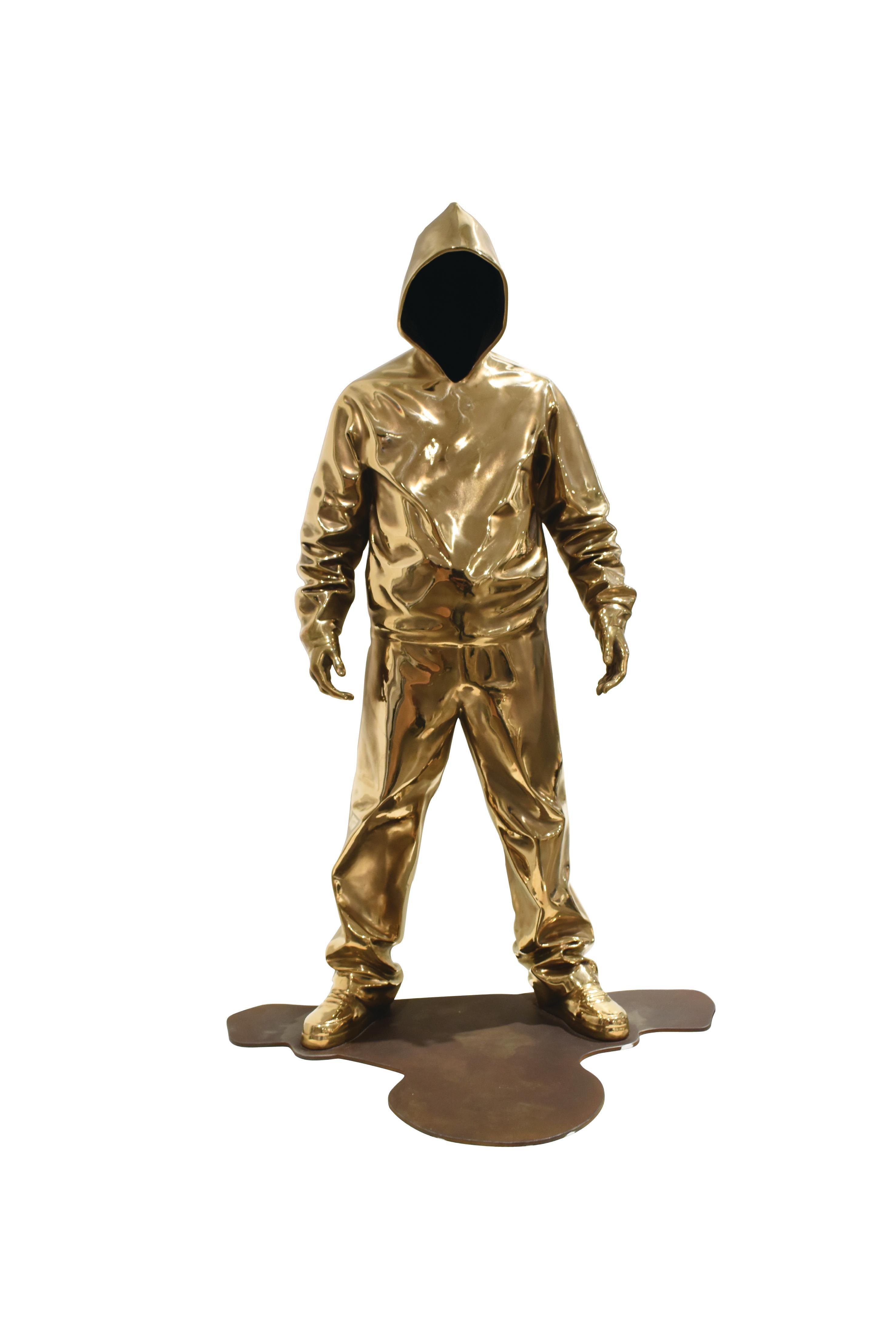"""Existence"", Bronze Sculpture, Hiphop Pop Art, Limited 8 Editions, 2018"
