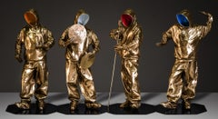 """""""N.E.S.W"""" BRONZE sculpture 37"""" x 19"""" x 19"""" inch Edition of 8 by Huang Yulong"""