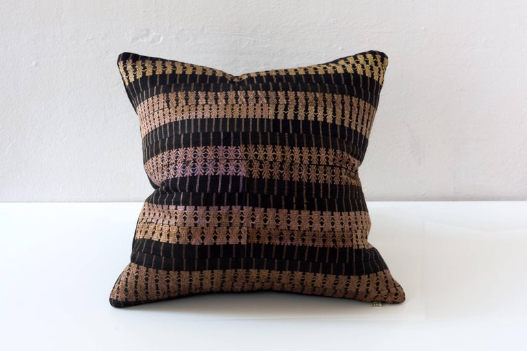 Embroidered Huangping Embroidery Pillow, Stripe For Sale