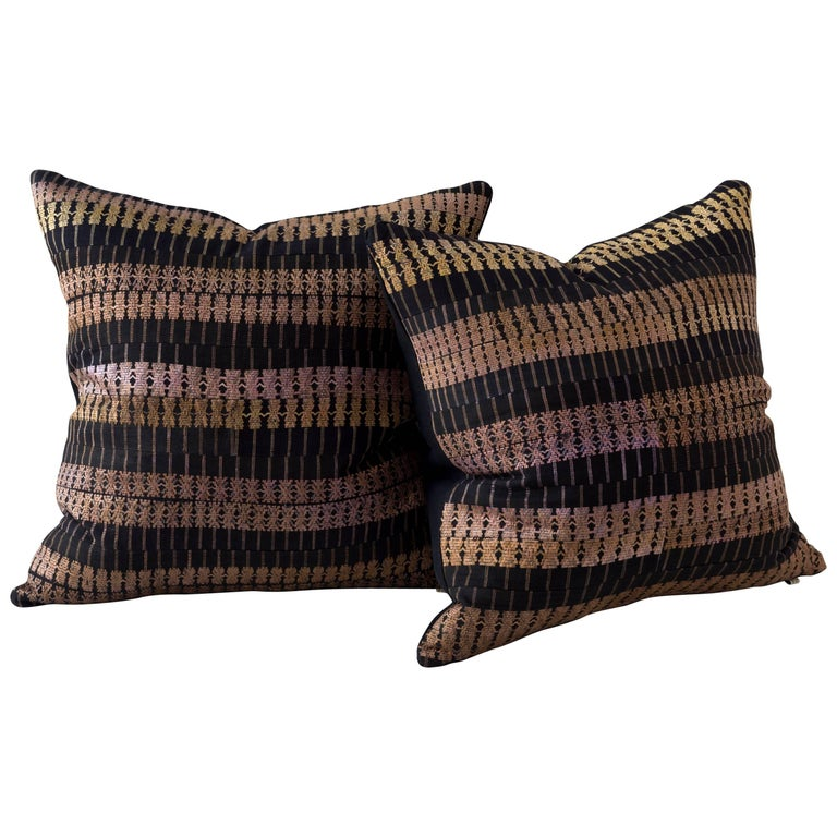 Huangping Embroidery Pillow, Stripe For Sale