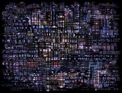 Urban Codes - 21st Century Color Landscape Photography Collage Purple Edition