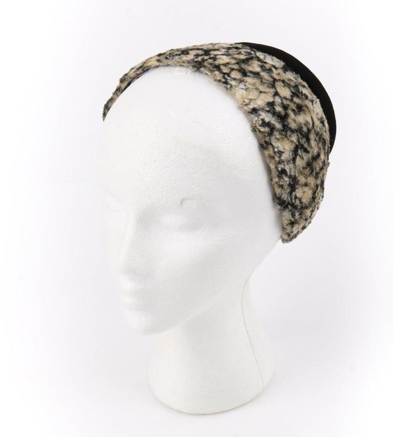 Women's HUBERT de GIVENCHY c.1950's Silk Velvet Juliette Calot Cap Hat For Sale