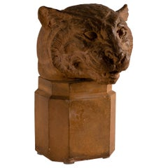 Hubert Hubert, Puma Sculpture, Terracotta, France, Mid-20th Century