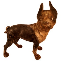 Hubley Cast Iron Terrier Bulldog Doorstop, circa 1950