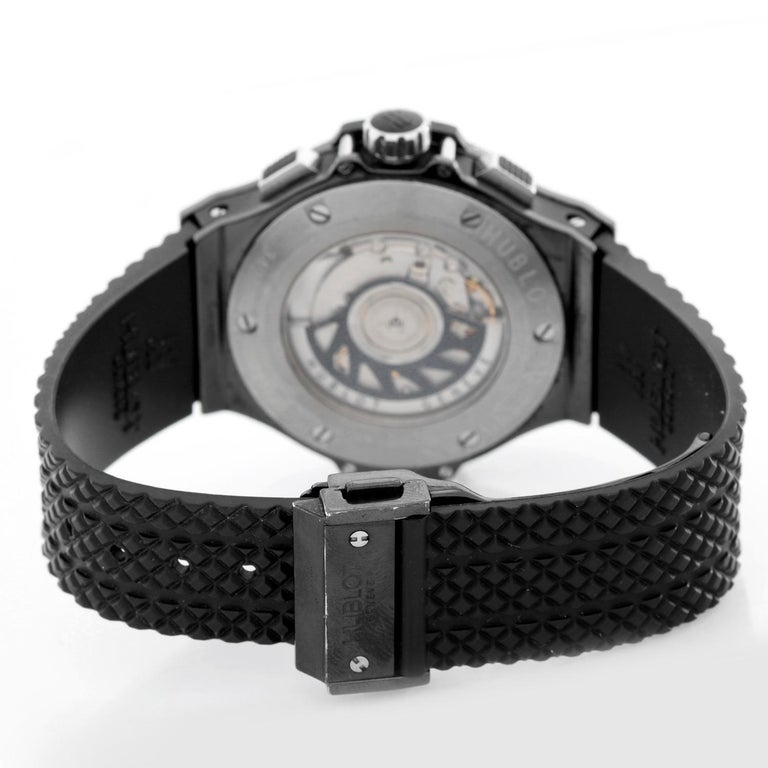 Hublot Big Bang Black Magic Automatic Men's Chronograph Watch 342.CX.130.RX In Excellent Condition For Sale In Dallas, TX