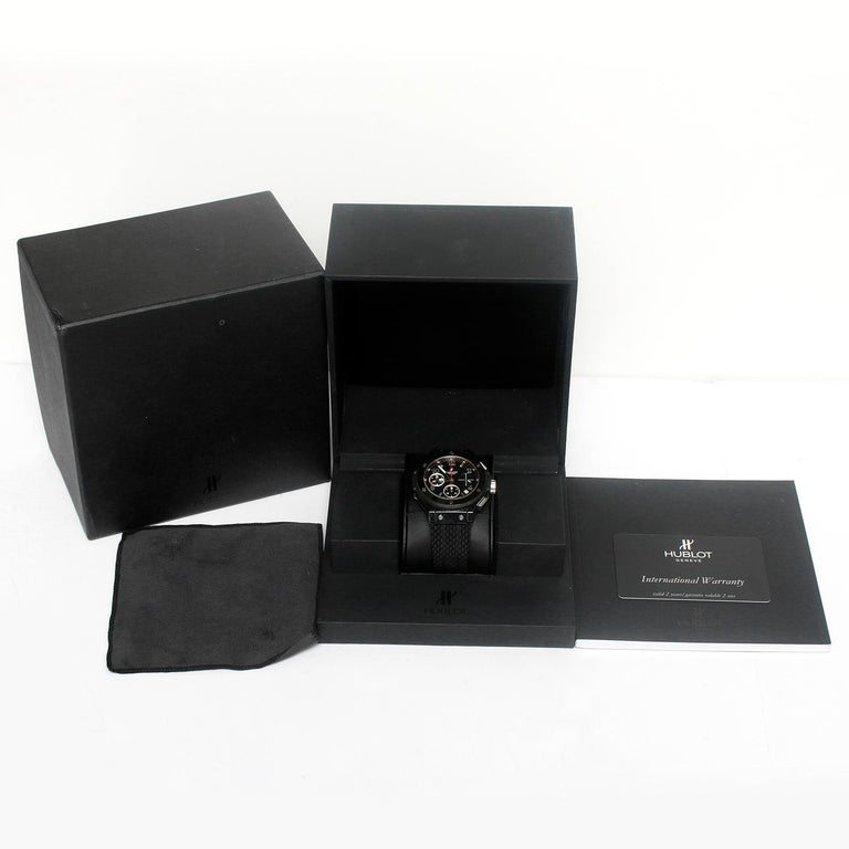 Hublot Big Bang Black Magic Automatic Men's Chronograph Watch 342.CX.130.RX For Sale 2