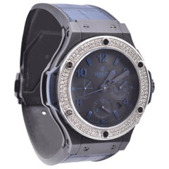 Hublot Big Bang Black Titanium and Ceramic with Custom Diamond Bezel and Factory