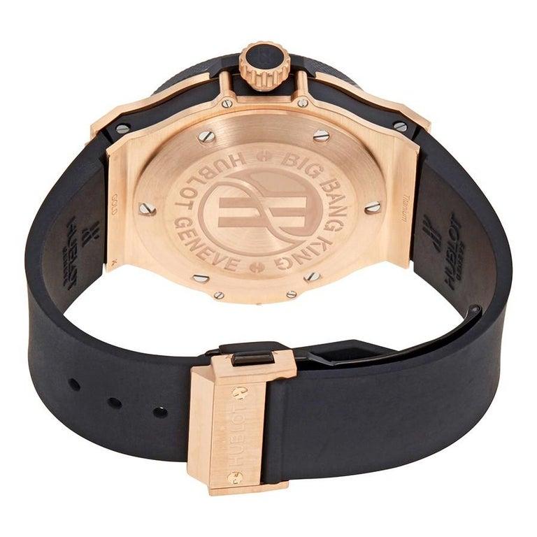Hublot Big Bang King Black Dial 18 Karat Gold Ceramic Case Rubber Men s  Watch In Excellent d44ceb4c182f