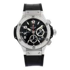 Hublot Big Bang Steel Diamond Bezel Black Dial Men's Watches 301.SX.130.RX.114