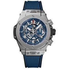 Hublot Big Bang Unico Titanium Blue Men's Watch 411.NX.5179.RX