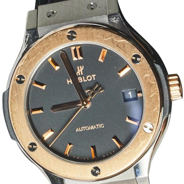 Hublot Black 18K Rose Gold And Titanium Classic Fusion Unisex Wristwatch 38.5 mm In Good Condition In Dubai, Al Qouz 2