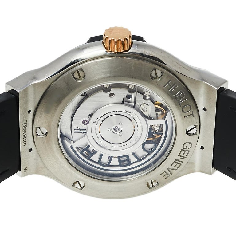 Women's Hublot Black 18K Rose Gold And Titanium Classic Fusion Unisex Wristwatch 38.5 mm